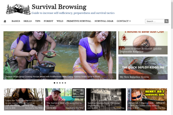 SurvivalBrowsing.com - High Converting Hot Niche - Survival Video Site -Premium Design- Fully Automated
