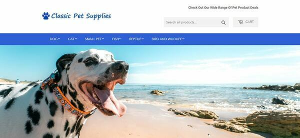 ClassicPetSupplies.com - Professional Dropship Pet Store with Domain Worth $932