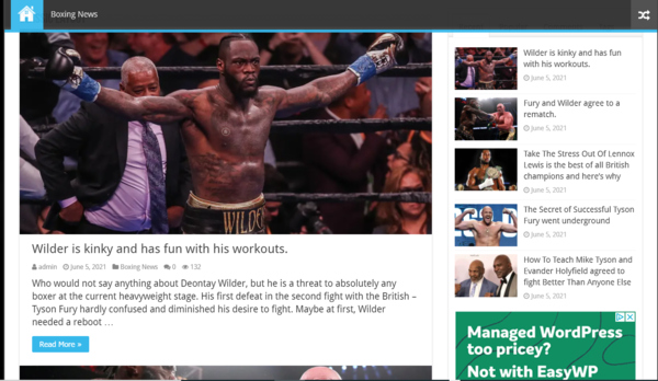 boxingnews - Boxingnews.site: Google AdSense activated, income generating, premium Sports, Celebrity and Entertainment News Blog in Hot Niche. Expected profit: $5000-6000/m