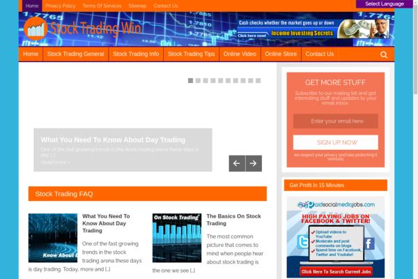 StockTradingWin.com -   Stock Trading Site-Lucrative Niche-Pro Design-$1.5KBINBonus-NEWBIE Friendly
