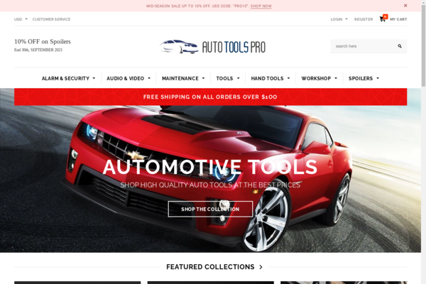 AutoToolsPro.com - AUTOMATED Car Tools,Supplies,Auto Parts Dropship shop w/10K itms,renewed 15y dom