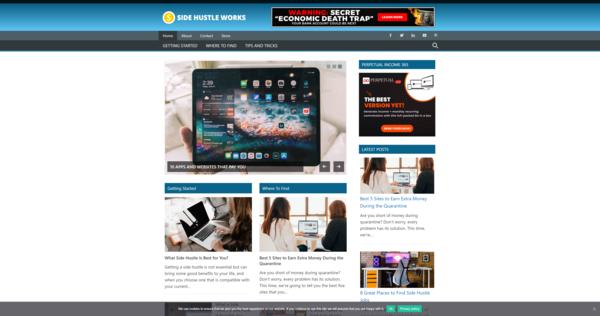 SideHustleWorks.com - High CTR WordPress Niche Website In Trending Niche | Low BIN Price |Amazing BIN Bonus - 20 WordPress Niche Websites In Popular Markets | High Earning Potential