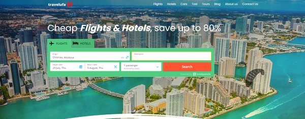 travelufa.com - Automated Travel Website, Earn Up To $10k/Mon On Flights, Hotels & Trip bookings
