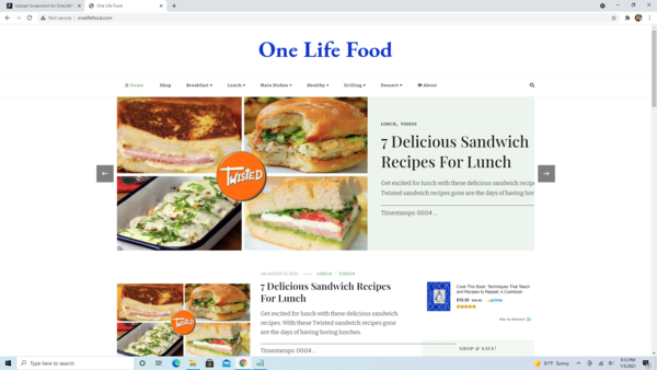 OneLifeFood.com - 100% Automated Food Store/Blog, Valued @ $1404, High Earning Potential