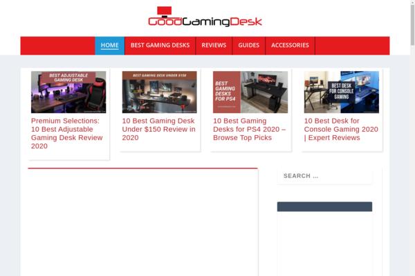 GoodGamingDesk.com - SUPERB Design- Amazon Review Site- Getting Traffic- With Sales- $1.5K BIN Bonus!