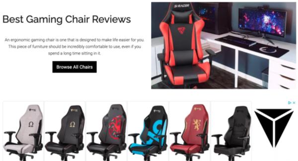 bestgamingchair.com - Advertising / Electronics