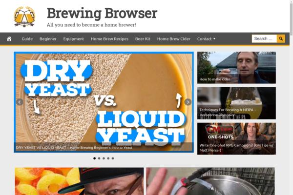 BrewingBrowser.com - Hot Niche Home Brew Guide - Premium Design - 100% Fully Automated - Ad Income