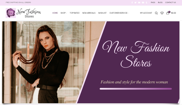 newfashionstores.com - Automated Store, SEO Backlinks $4,500/Mo Potential, 10-years Domain -NO RESERVE!
