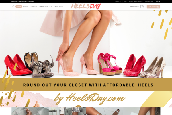 Heels Day- Automated Brand Women Heels Shoes Dropshipping store  - Trending Brand Women Shoes Dropshipping store HOT NICHE/ No Programming Skills Needed, No Stock Needed, High-Profit Margin Earn Up To $5k/Month. Design Built By