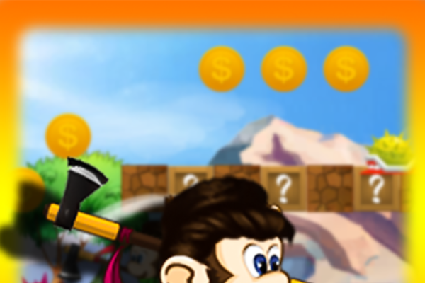 Jungle monkey run game 2D - Android Mobile Game for sale    jungle monkey run game 2D