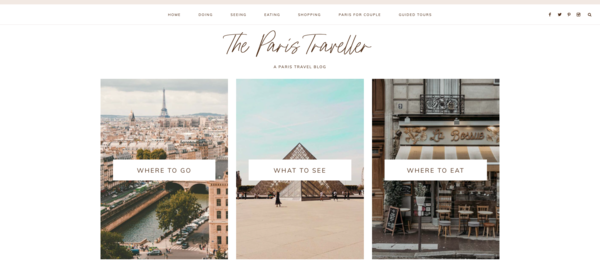 theparistraveller.com - Paris Travel Blog with 20 Articles and Beautiful Design Awaits. Low BIN Price!