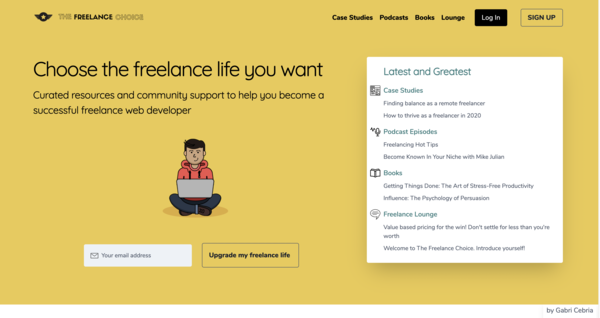 The Freelance Choice - A community site for freelance developers and designers, containing interviews with top freelancers, recommendations of resources and a community forum.