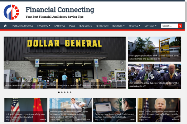 FinancialConnecting.com - Finances, Tax, Retirement and Investment - Fully Automated - Amazon & Ad Income
