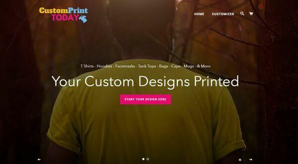 CustomPrintToday.com - Shopify Dropship On Demand Print Store, Premium Domain worth $1,050, US/EU suppliers