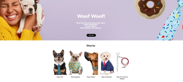 DogTies.xyz - DogTies $32.95/ profit from sales. Very profitable Pet niche w/ no competition!