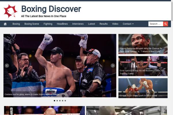 BoxingDiscover.com - Boxing News - High CTR Design - BIN Bonus - Fully Automated - Popular Niche