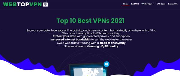 webtopvpn.com - Premium Designed VPN Reviews Affiliate Website. Earning per click Up To 190$.