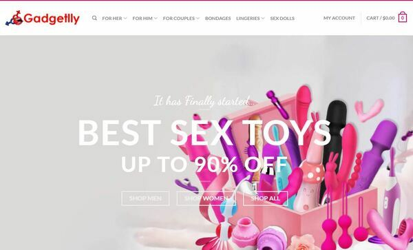 Gadgetlly - Gadgetlly is Sex toys online website over two year and sell the women sex toys,mens sex toy,women vibrators,All the traffic is seo. 800+ IP/Month