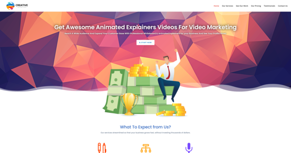 CreativeExplainerVideos.com - Animated Video Creation Business, Newbie Friendly, Fully Outsourced, Net Profit - $854 per/mo, BIN Bonus - Buy It Now And Get a Free Site, US Business Database