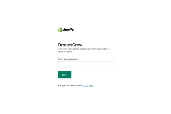 DronesCrew.com - Professional & Mini Drones|Highly Profitable|New User Friendly|Automated Fulfilment| $1,314 Domain Value