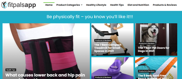 fitpalsapp.com - Website for Sale in Health Niche