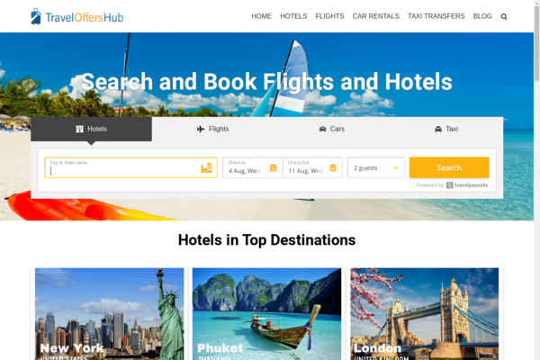 traveloffershub.com - Automated Travel Affiliate Site Earn UpTo 5k/month Potential Income Opportunity