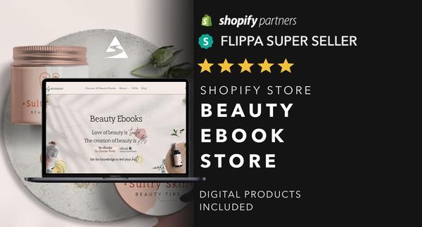 BooksAboutBeauty.com - Password: 1234 |Beauty Ebook Digital Product Shopify Store For Sale