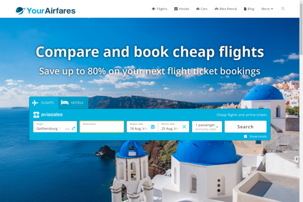 YourAirfares.com - Automated Travel Site, Potential to Earn Up To $5k/Month, Premium Domain