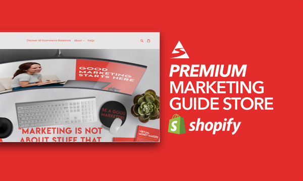 EcommerceBookstore.com - Password: 1234 | Business Marketing Ebook Shopify Store For Sale Startup Streams
