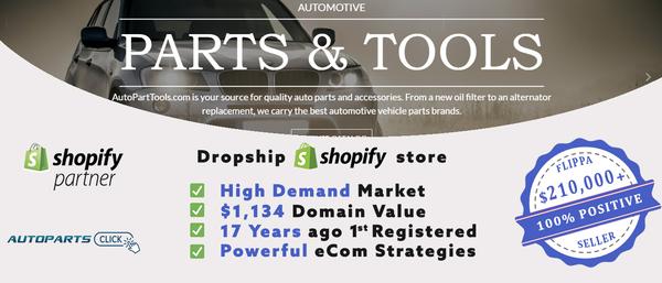 AutoPartsClick.com - TOP VALUE Auto Parts & Supply Dropship Shop + eCom tuition [$4,251/mo Potential]