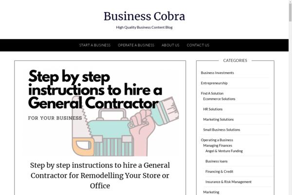 businesscobra.com - High Quality Business Blog Site - 200K+ Words