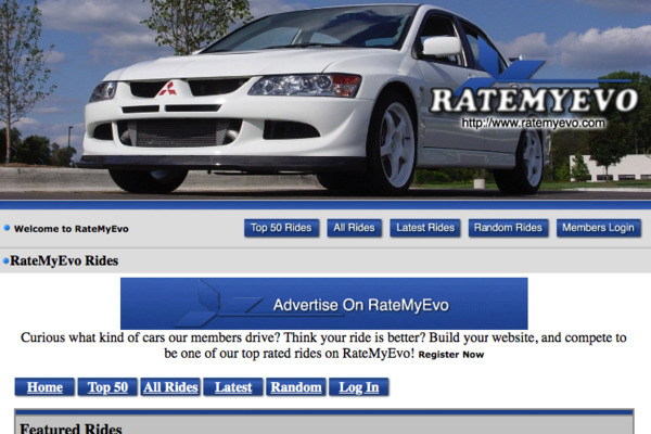 RateMyEvo.com - Established Car Community That Can Make Money Passively From Ads