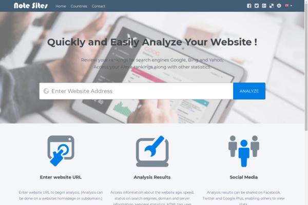 notesites.com - Comprehensive Website Analysis. SEO stats checker. Autopilot Money Maker.