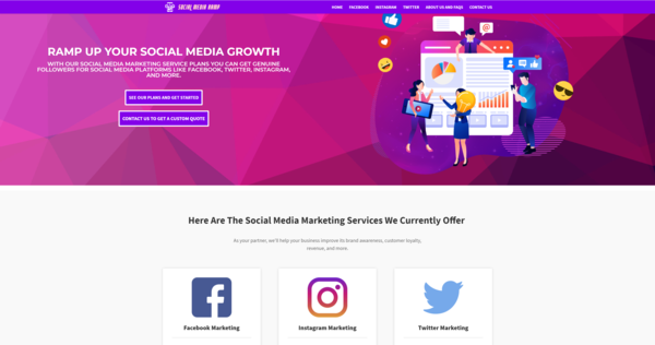 SocialMediaRamp.com - Social Media Service Business, Newbie Friendly, Fully Outsourced, Net Profit - $638 per/month, BIN Bonus - Buy It Now And Get a Free Site, US Business Database