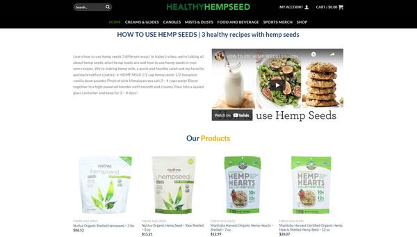 HealthyHempseed.com - HEALTHYHEMPSEED.COM Professional Hemp store 150+ inventory USA Supplier