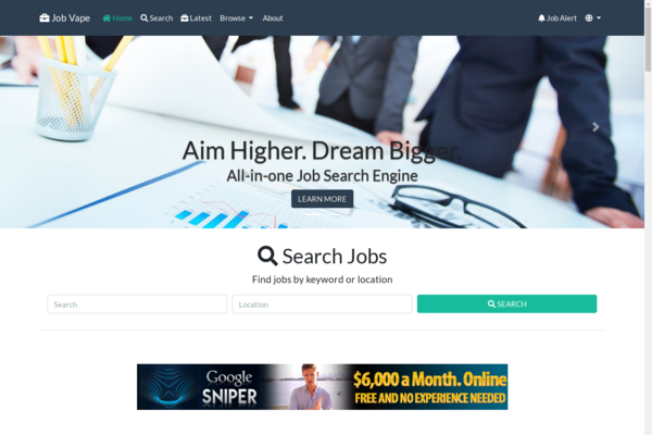 jobvape.com - All-in-One Job Engine. Killer Design & Passive Revenue on full autopilot.