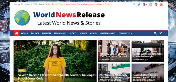 WorldNewsRelease.com - Viral Niche,World News site 100% Automated, Premium Design, BIN 1 year Hosting