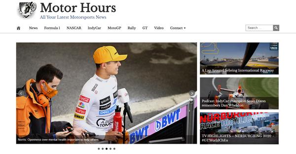 MotorHours.com - Fully Automated Motorsports Website - 1 Year Free Hosting BIN + Great Bonuses