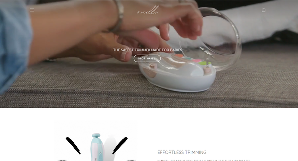 nailli.com - Baby Nail Trimmer | Branded Automated Shopify One Product Store