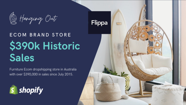 hangingout.com.au - 6-year-old branded Ecom store with quality local suppliers and $390k in sales