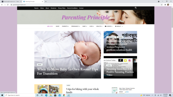 ParentingPrinciple.com - High Converting Hot Parenting Niche - Premium Design - 100% Fully Automated