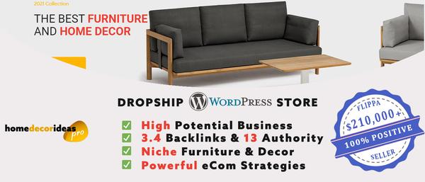 HomeDecorIdeasPro.com - TOP VALUE Furniture & Decor Dropship Shop + eCom mentoring [$3,944/mo Potential]