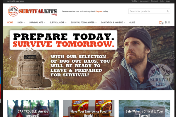 SurvivalKits.org - PREMIUM BUNDLE PACKAGE: TWO Established Websites That Have Made Cash