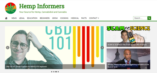 HempInformers.com - Fully Automated CBD Website - 1 Year Free Hosting BIN + Great Bonuses