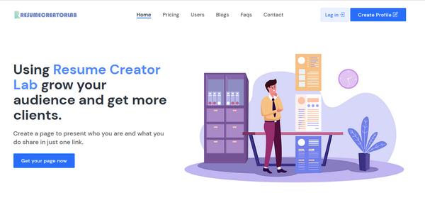 resumecreatorlab.com - Start your own Resume and Profile Builder SaaS Website