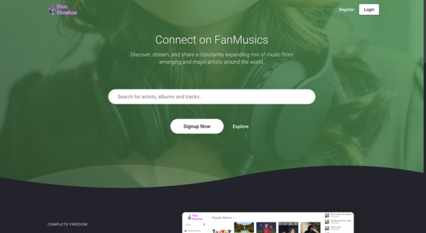 hydnellum.com - Music Streaming + Store Platform - Earn Money, Subscription Plan, ADs, Affiliate