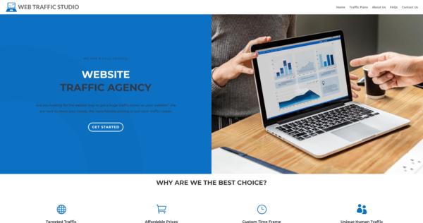 WebTrafficStudio.com - Web Traffic Agency, Newbie Friendly, Fully Outsourced, Net Profit - $411 per/mo