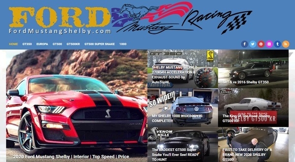 FordMustangShelby.com - Fully Auto Pilot WordPress Website Related to Automotive Niche