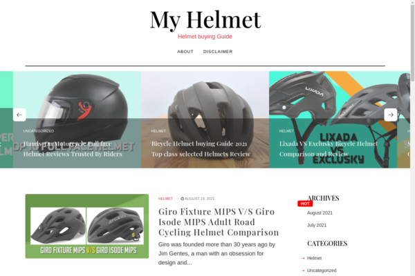 myhelmet.club - Myhelmet.club is an Amazon affiliate website, launched in 2021