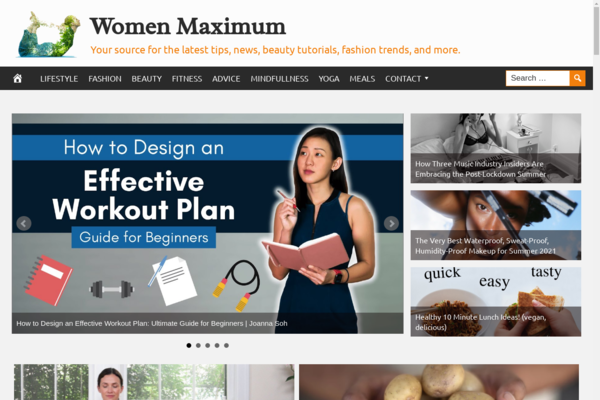 WomenMaximum.com - Fully Automated Women Empowering Website. Get 5 Websites worth over $900